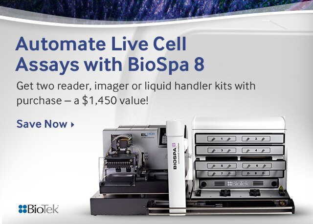Automate Live Cell Assays with BioSpa 8