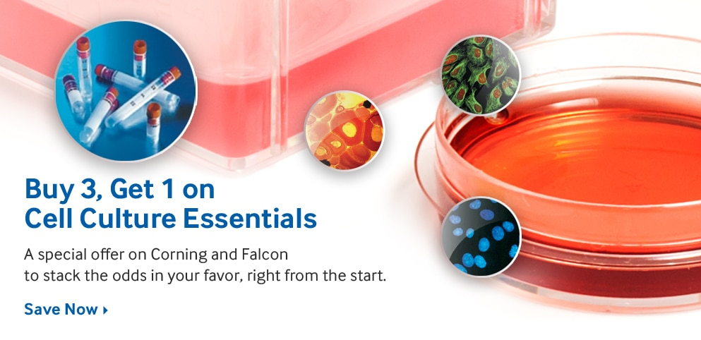 Buy 3, Get 1 on Cell Culture Essentials
