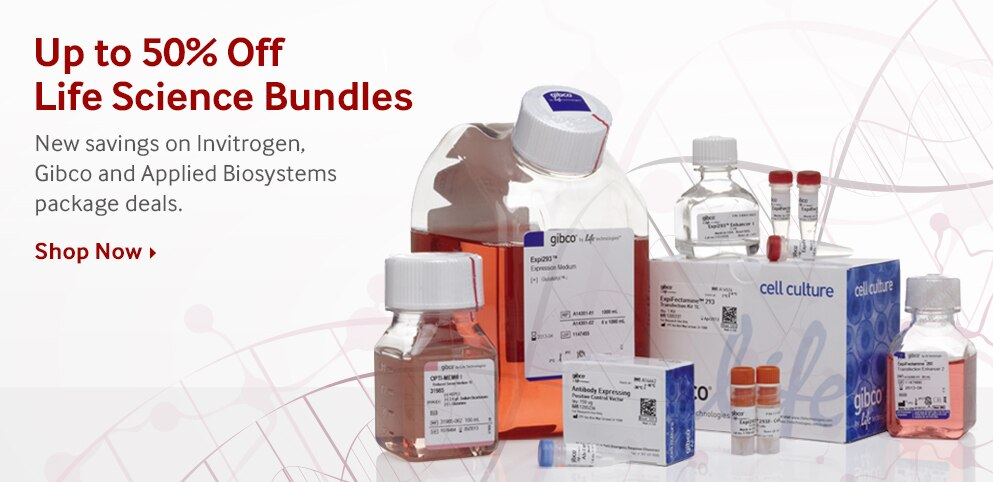 Save Up to 50% on Life Science Product Bundles