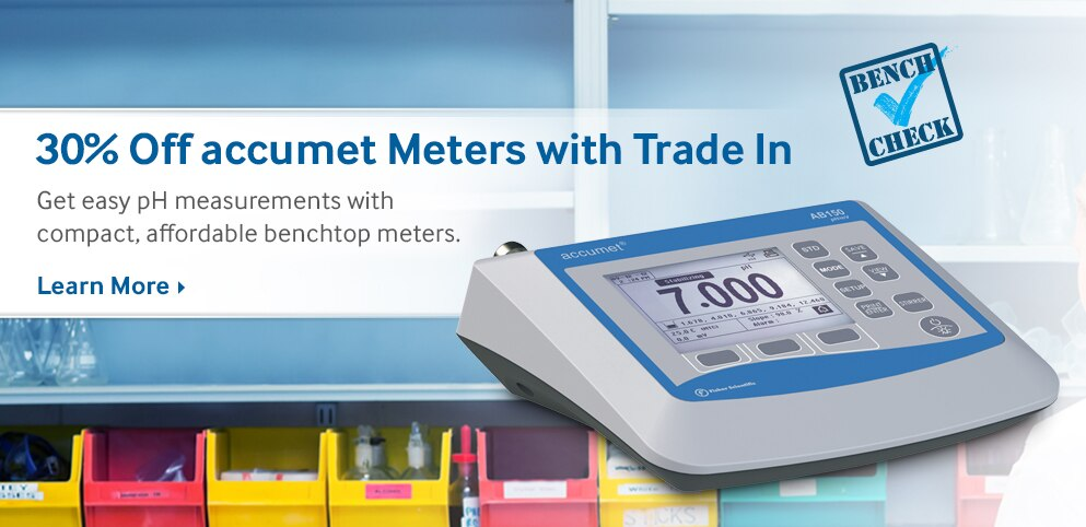 30% Off accumet Meters with Trade In